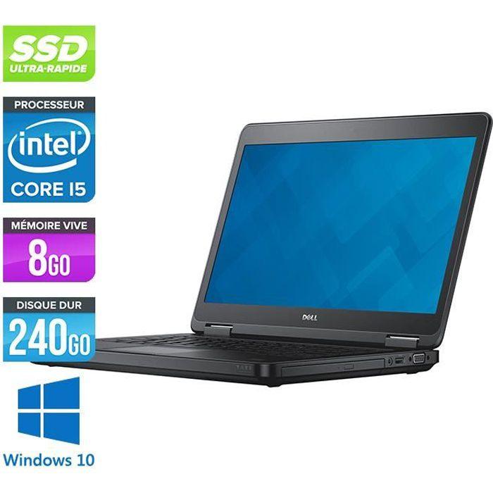 Pc portable Dell E5440 - i5-4300U -8Go -240Go SSD - Windows 10