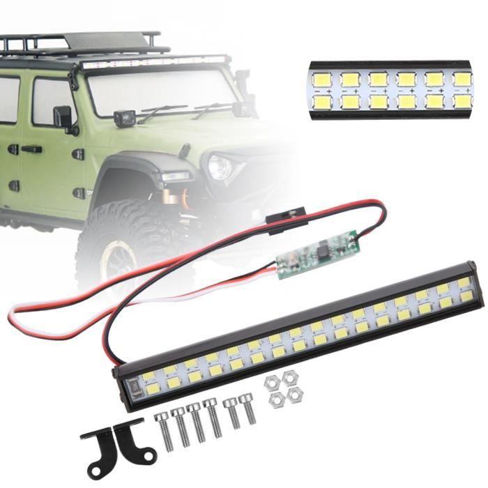 32 pièces lampe perles RC voiture toit lampe RC chenille universel LED barre lumineuse accessoire longueur 100mm-QIN