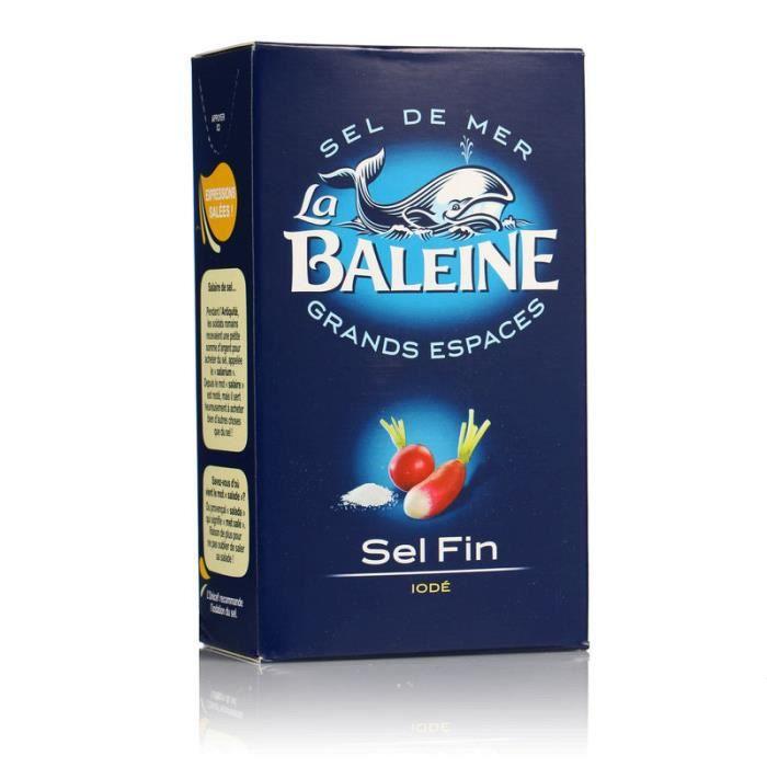 LA BALEINE Sel fin iodé La Baleine - 500 g