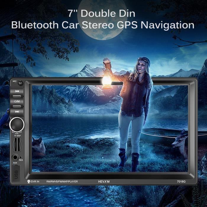 7- Autoradio Lecteur Mp5 2 Din Navigation Gps Avec Caméra De Recul