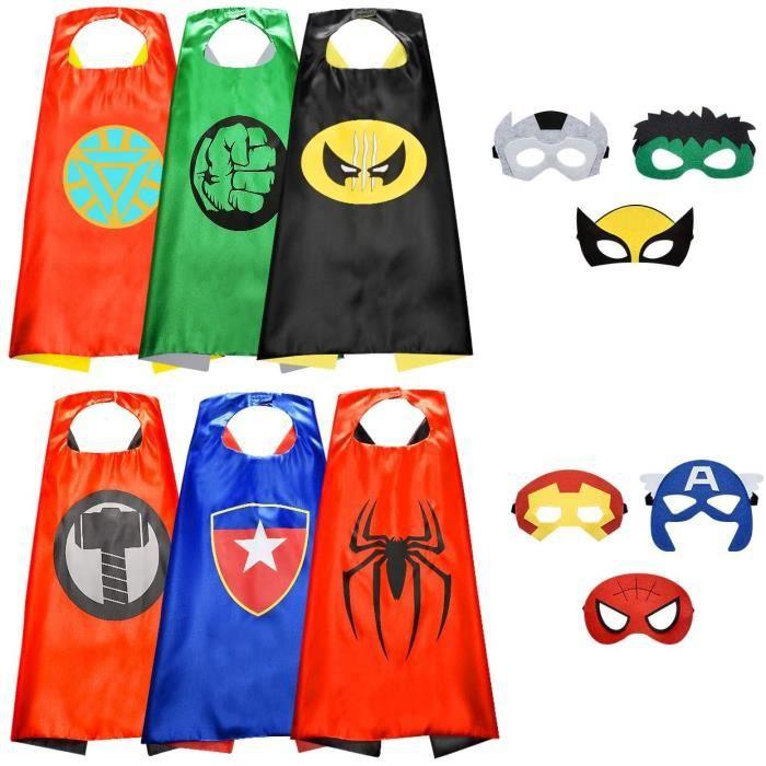 Cool Costumes de Super Heros Garcons et Filles Jouets de Super-Heros pour Les Costumes d'anniversaire - Cadeaux pour Enfants