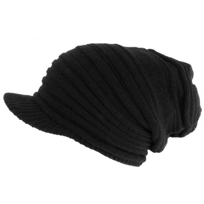 Bonnet Casquette Rasta Noir Fashion Kyft Nyls Création - Taille unique - Noir