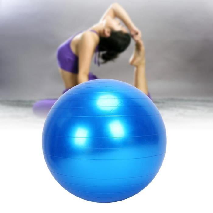 Ballon de Yoga 75cm Violet anti-déflagrant non-slip Bleu