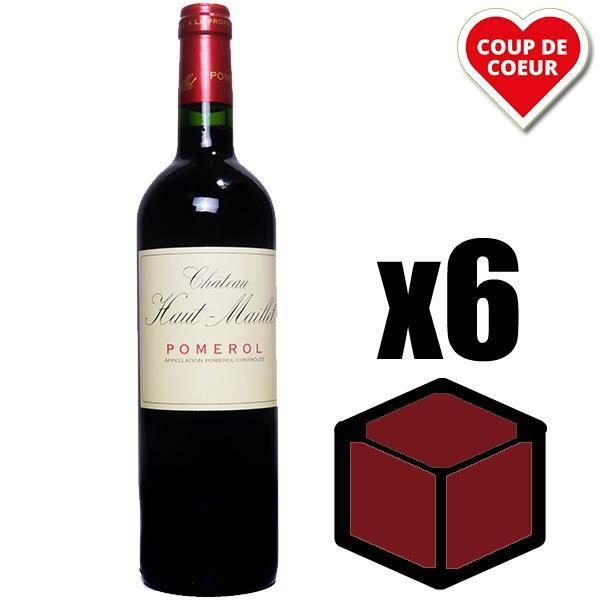VIN ROUGE X6 Château Haut-Maillet 2015 75 cl AOC Pomerol Rou