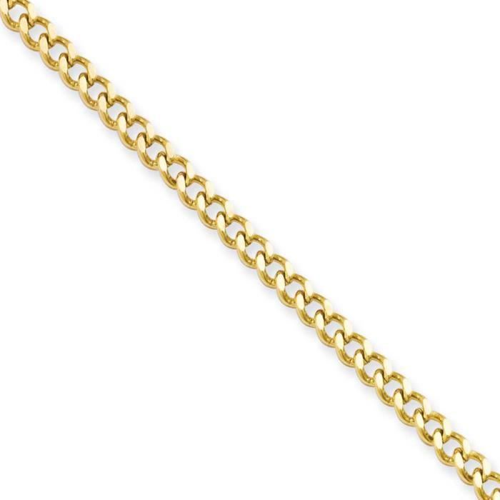 Stainlesssteelipgold plated3.0mm22incurbchain-Collier - 22 -