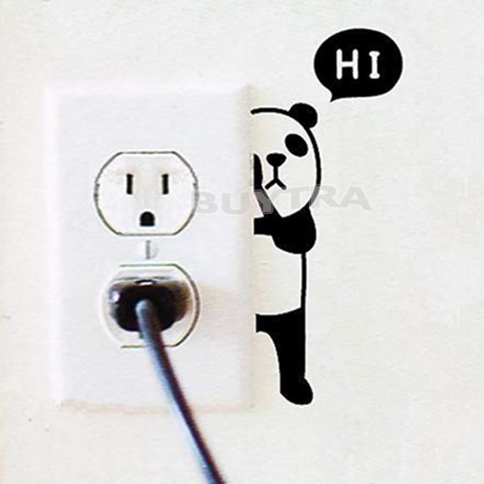 Stickers Interrupteur Panda - Achat / Vente Stickers Interrupteur