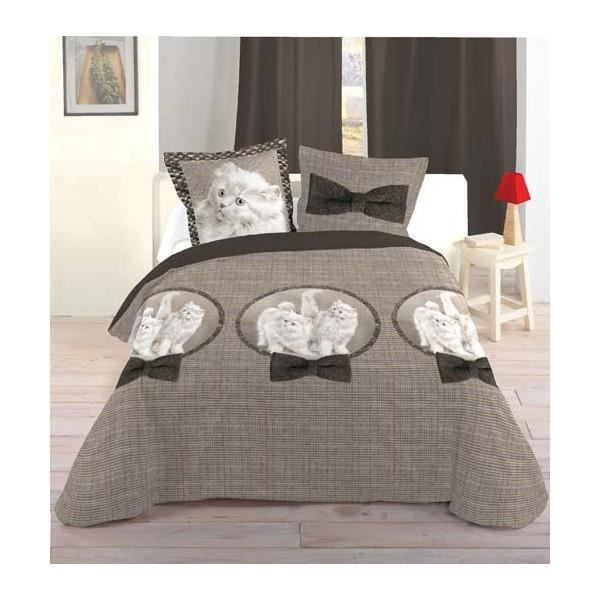 housse de couette chaton 2m40 x 2m20 achat vente housse de couette cdiscount. Black Bedroom Furniture Sets. Home Design Ideas