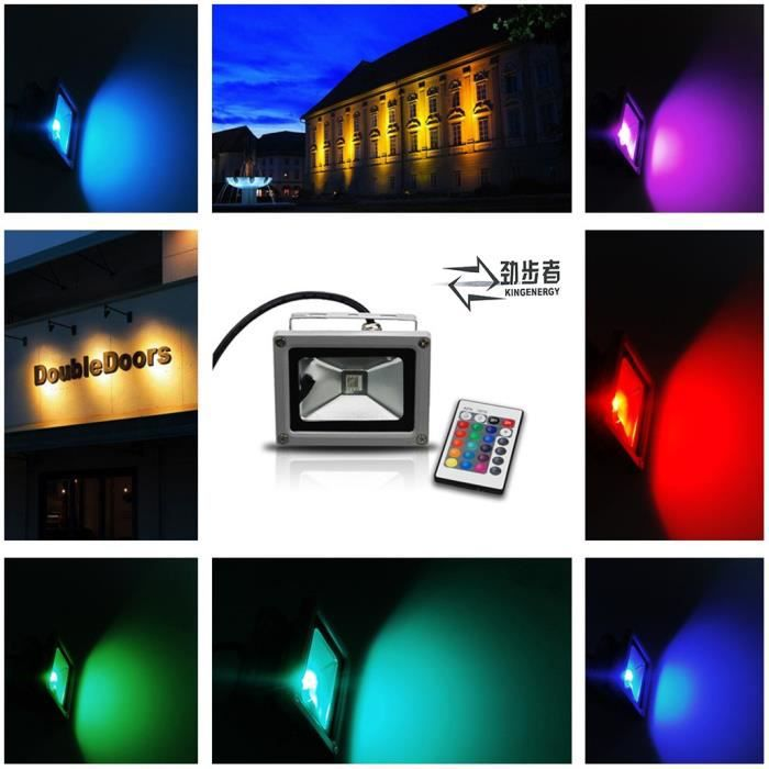 Kingenergy projecteur led 50w rgb ext rieur avec for Projecteur led rgb exterieur