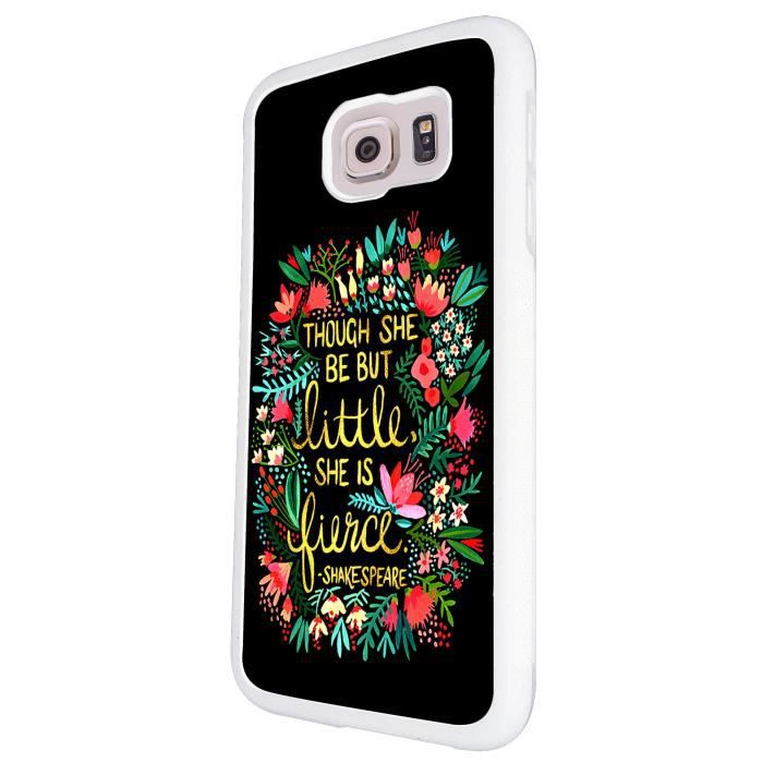 Floral shakespeare quote though but little she is fierce - Espionner portable sans y avoir acces ...