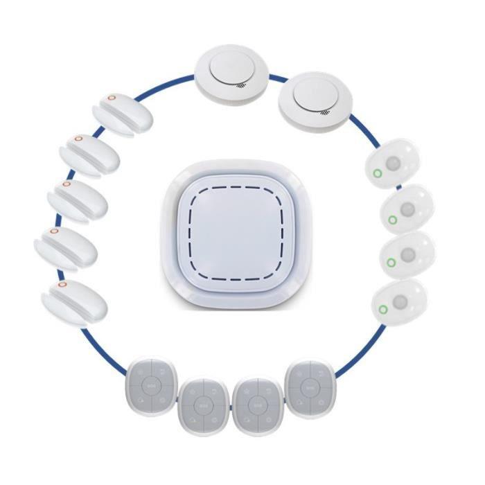KIT ALARME Kit Alarme Maison Sans Fil Connecté 3 En 1 - Sécur