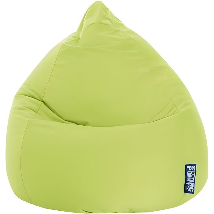 pouf poire easy xl vert anis by sittingpoint achat vente pouf poire 100 polyester cdiscount. Black Bedroom Furniture Sets. Home Design Ideas