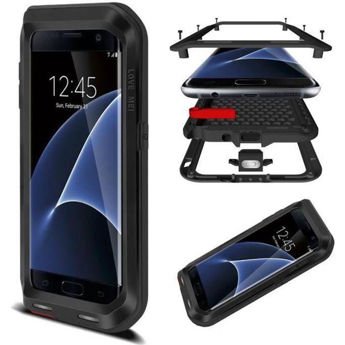 Coque Samsung Galaxy S7 Edge , Etanche Métallique La bordure ...