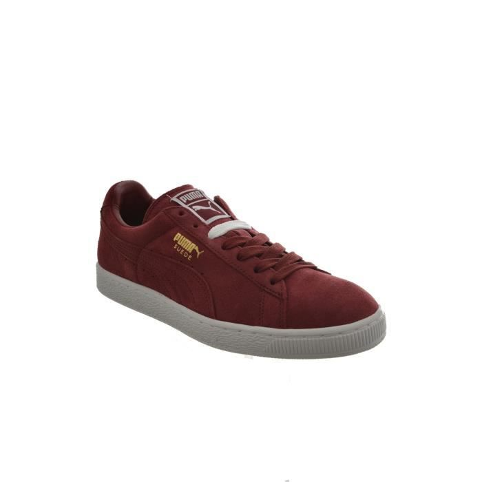 baskets mode puma suede classic + rouge