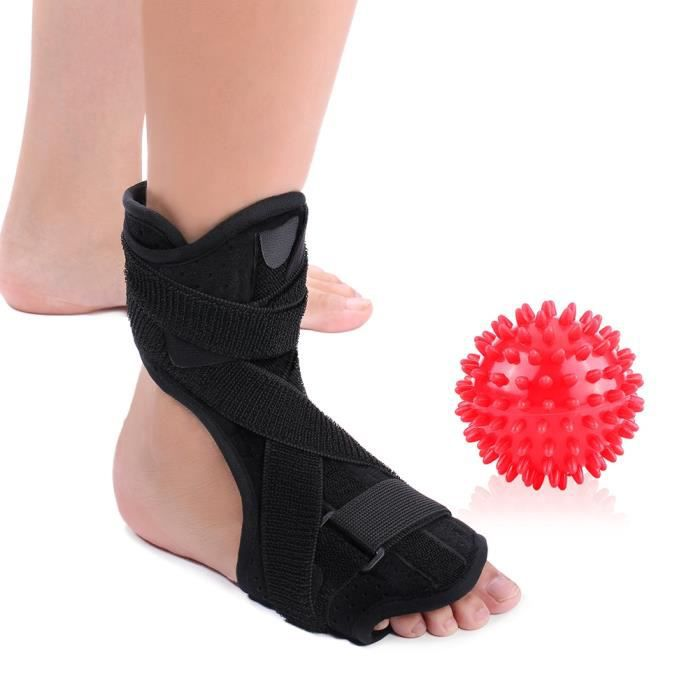 MASSAGE PIED Protège-talon Fasciite Plantaire Correcteur Chaussettes  soutien pieds ajustable + Boule de Massage pour pieds - CWU
