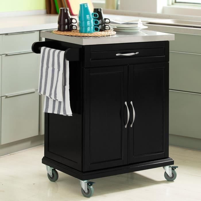 sobuy fkw13 sch meuble chariot de cuisine de service roulant desserte avec armoire de. Black Bedroom Furniture Sets. Home Design Ideas