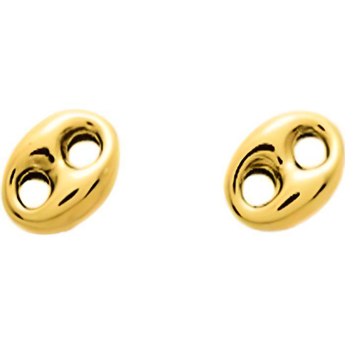 Or 18K Sur Argent Sterling Diamant accent Design Carré Boucles D/'oreilles Créoles