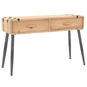 CONSOLE EXTENSIBLE Table Console en Bois Massif de Sapin Design au Ba