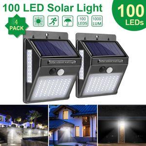 APPLIQUE EXTÉRIEURE Lampe Solaire Extérieur, 4-Pack 100 LED Éclairage