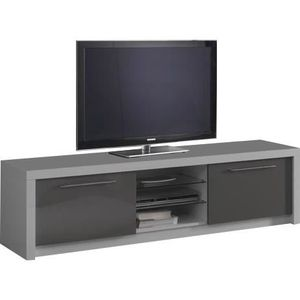 meuble tv gris et blanc achat vente meuble tv gris et. Black Bedroom Furniture Sets. Home Design Ideas