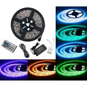 BANDE - RUBAN LED AST 5050 RGB Ruban Lumières - 5 m - 300 LED + Adap