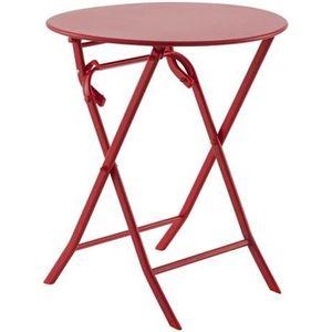 Table de jardin ronde Rouge - Achat / Vente Table de jardin ...