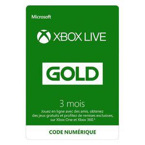 ABONNEMENT Abonnement Xbox Live Gold 3 mois / Version dématér