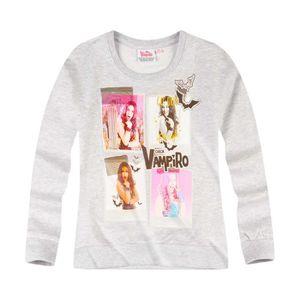 Joli tee/_shirt fille gris de marque CHICA  VAMPIRO taille 8 ans dy
