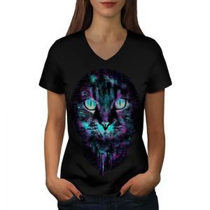 T-SHIRT Chat Chaton Gros Visage Animal de compagnie Amour