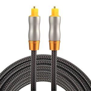 CÂBLE AUDIO VIDÉO Cables Optiques Audio 2m OD6.0mm plaqué or tête en