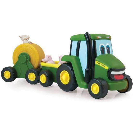 Neuf et Scellé Enfants Jouet Set John Deere Tracteur Moteur Service