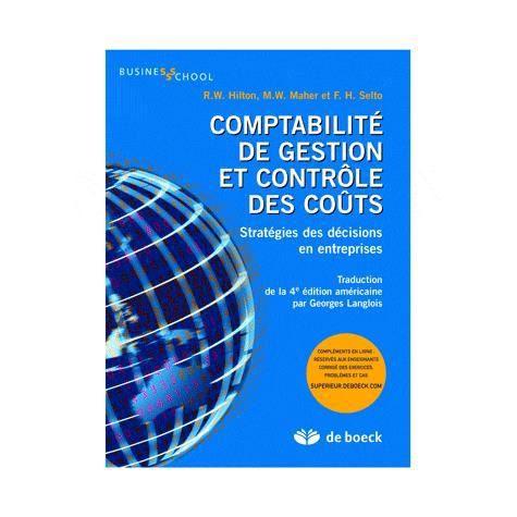 LIVRE COMPTABILITÉ Comptabilité de gestion et contrôle des coûts