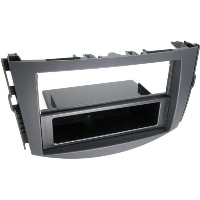 Adaptateur de façade 2-DIN avec vide poche Toyota RAV 4 2006 > noir