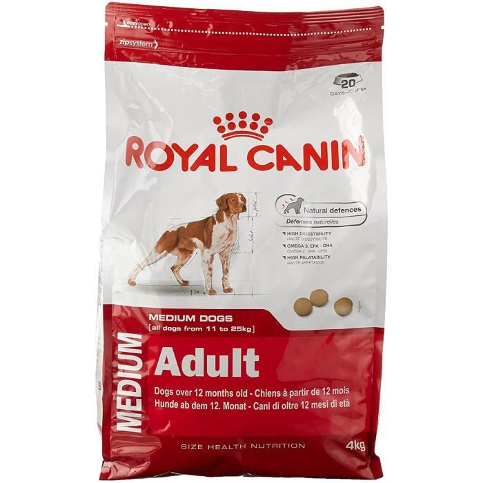 Royal Canin Medium Adult Nourriture pour Chien 4 kg 691443