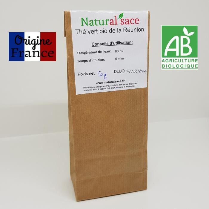 Thé vert bio 100% français (Réunion) - 50g