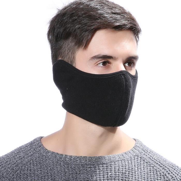 Protection sportive Masque d'hiver pour hommes femmes polaire masque demi-visage coupe-vent pour l'extérieur XDD200319680_cbas