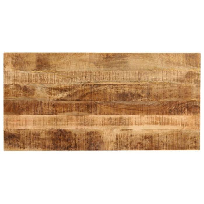 Table de salle à manger Bois de manguier massif 120x60x76 cm -Brun -MOO