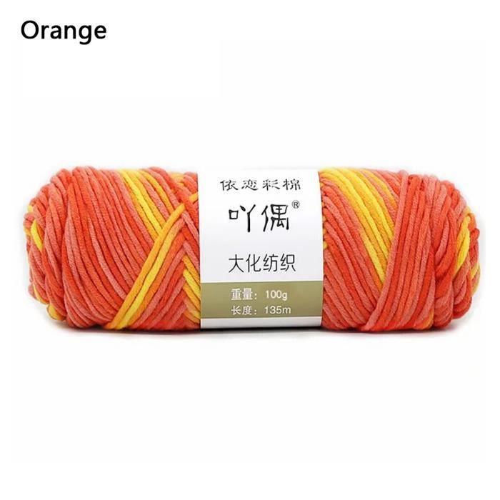 100g barre de fil de coton de lait couture main bricolage écharpe ligne ménage chaud ti538