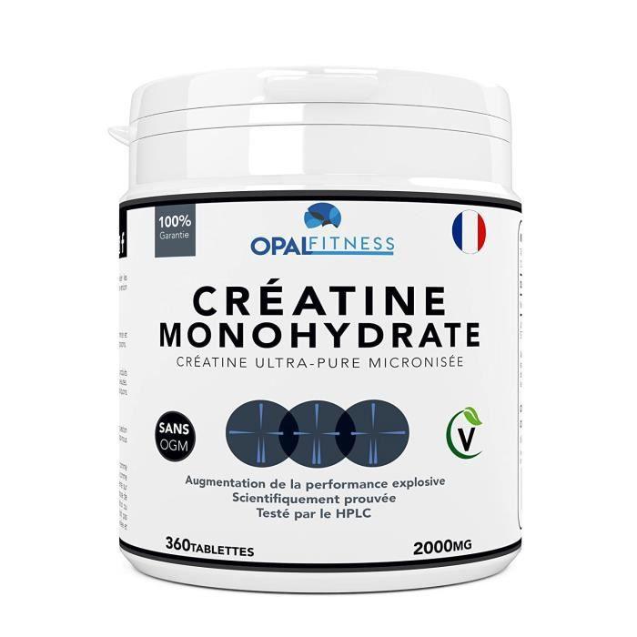Créatine Créatine Complément Alimentaire par Opal Fitness - Comprimés de créatine de monohydrate - Augmentation de la pu 3697