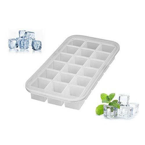 Levivo 331800000030 Bac à glaçons en silicone pour 18 cubes, Blanc, 27,8 x 14,2 x 3,6 2