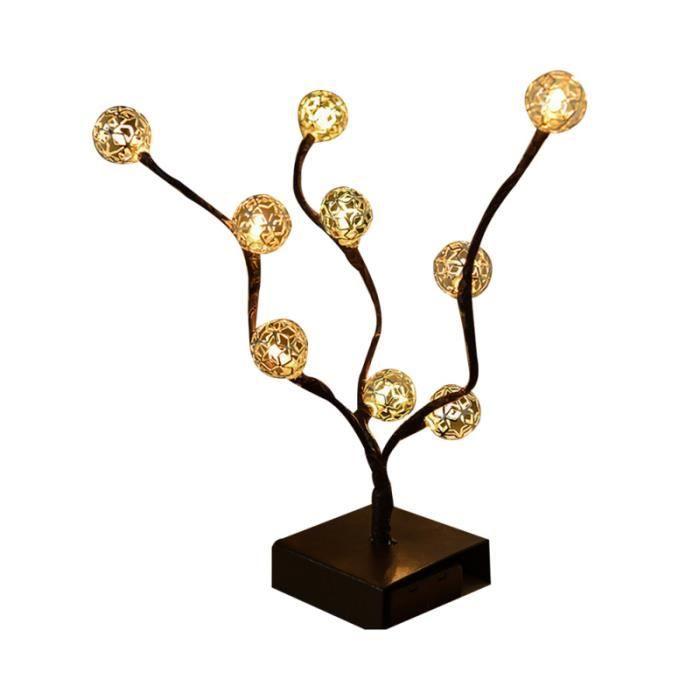 1 pcs lampe LED de table design arbre décoratif à piles pour la décoration de bureau à domicile TABLEAU - TOILE