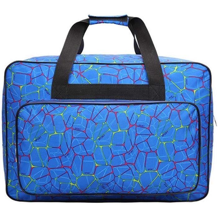 MACHINE A COUDRE,Sac de voyage Portable de grande capacité,Sac pour Machine à coudre,sac fourre tout pour outil de - Blue #B