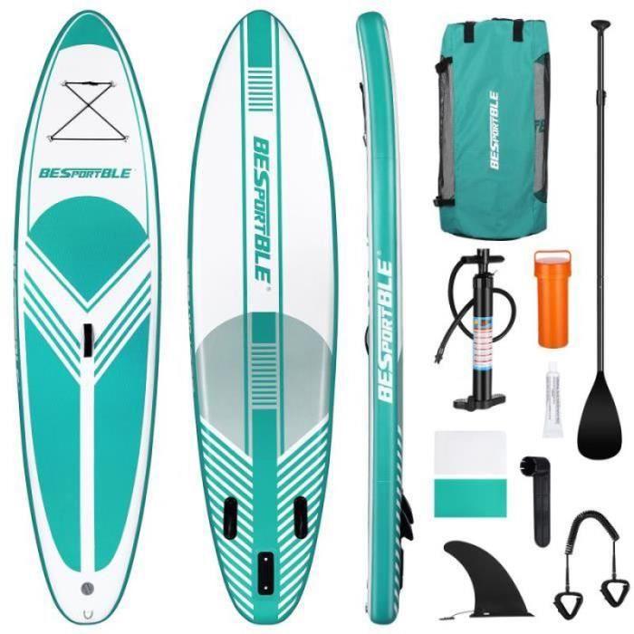 Paddle Board gonflable Premium antidérapant Stand équipement de sport de surf à bord de pour kayak sport d'eau - glisse d'eau