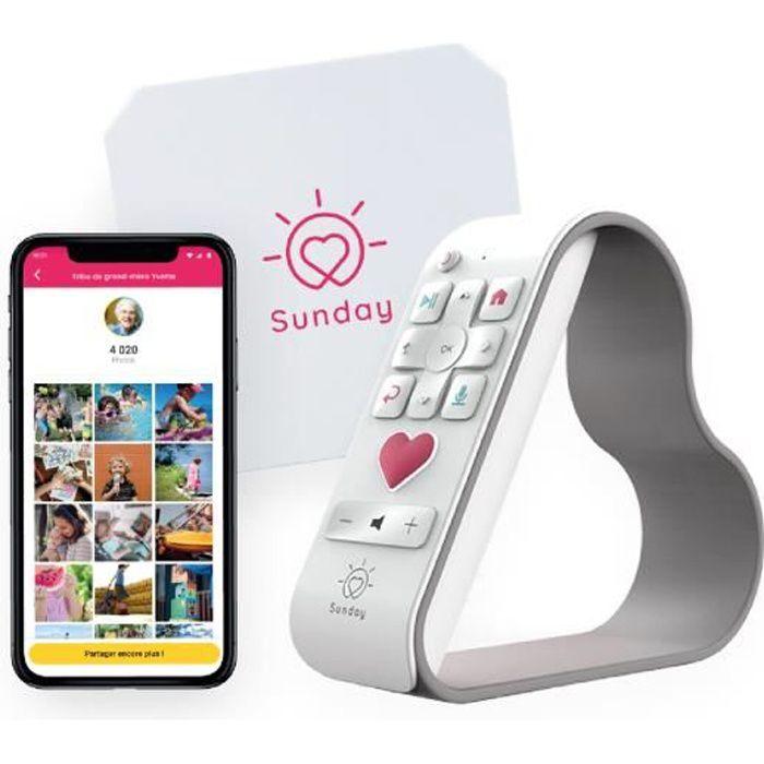 SUNDAY Box - Photos & Vidéos sur la TV - Solution innovante pour toute la Famille - Un Outil Simple pour Les (Grands) Parents