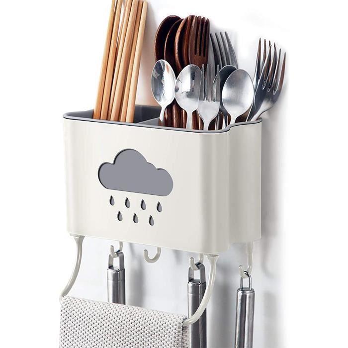 IWTTWY Cuisine Rangement et Organisation Boîte Mural Support de Cuisine Ustensiles et Accessoires (Beige)