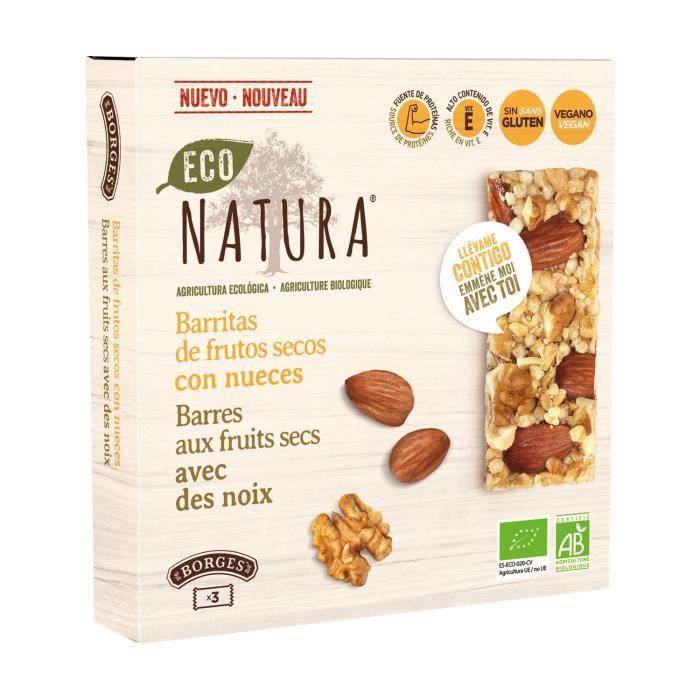 Borges Eco-Natura+Barres aux noix avec des noix 3 barres de 25g