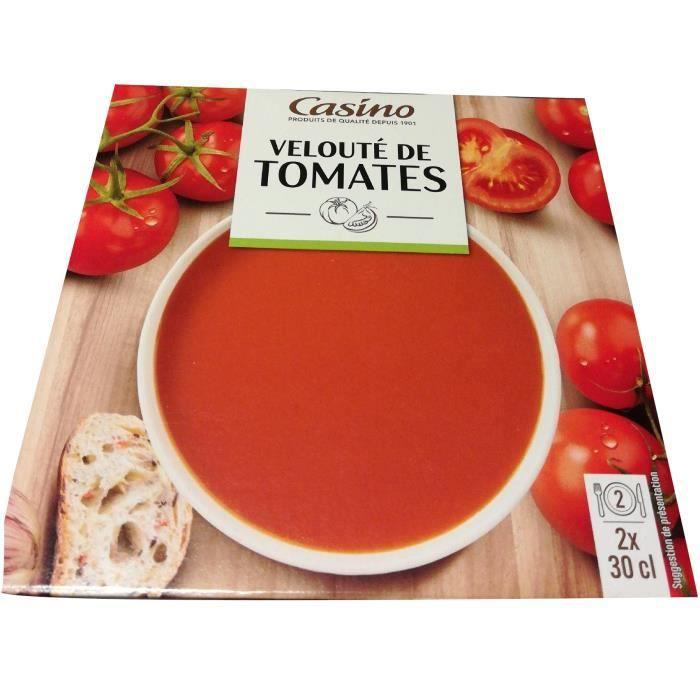 CASINO Velouté de tomates - 2 x 30 cl