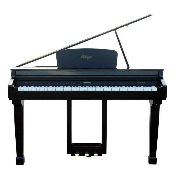 DELSON Piano adagio type crapaud noir 88 touches