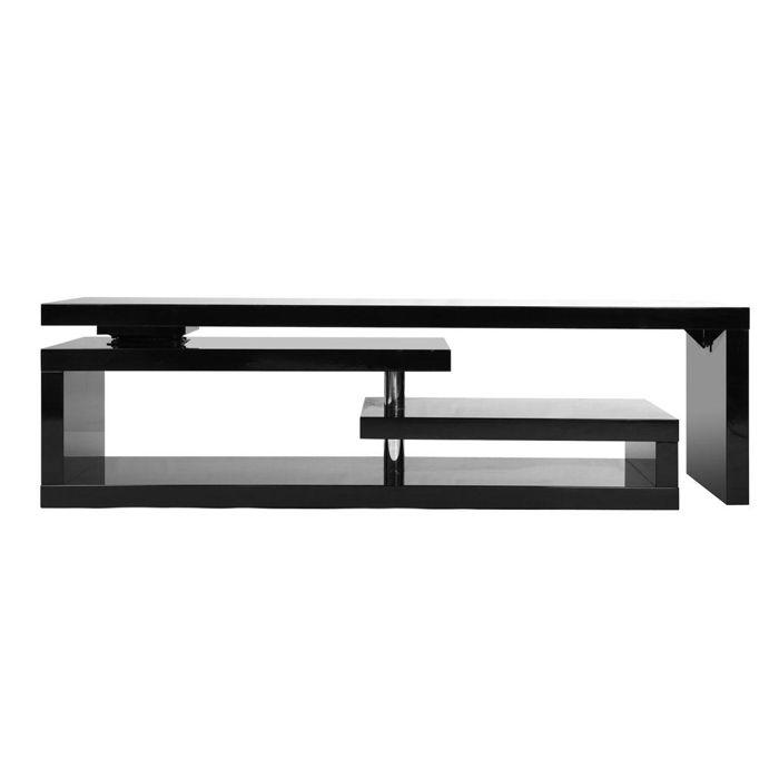 Miliboo - Meuble TV design laqué noir pivotant MAX V2