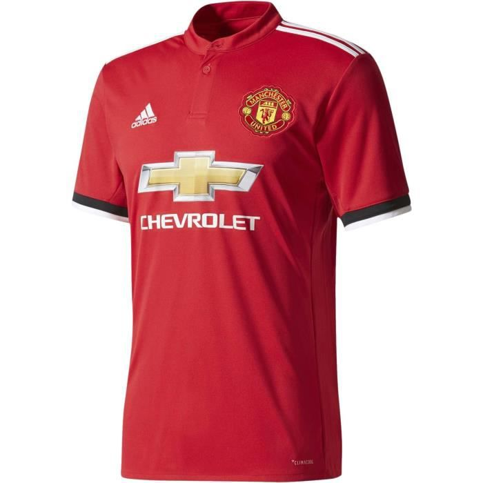 ADIDAS Maillot de football Manchester United Domicile 17 - Homme - Rouge