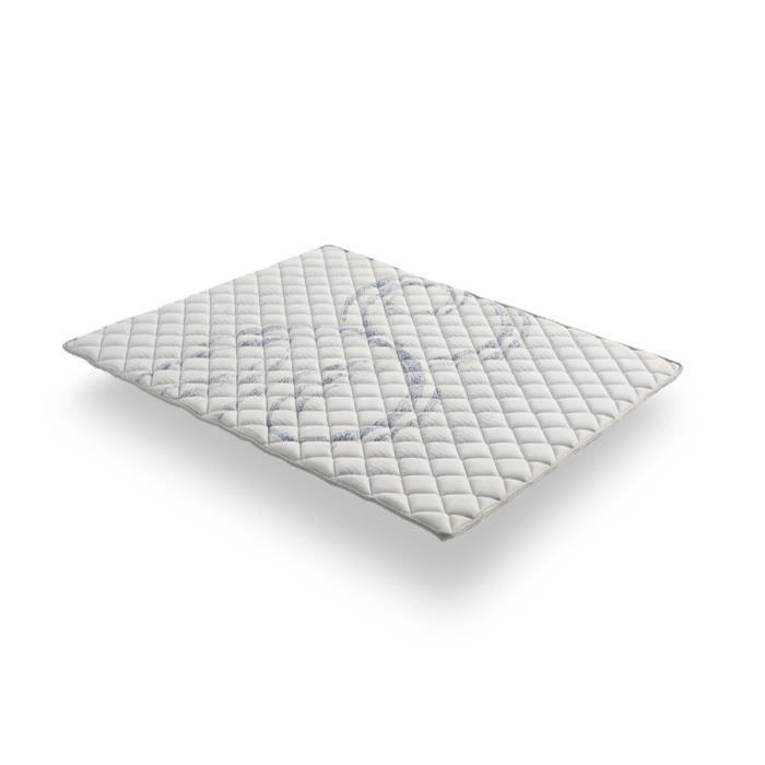 Sur-matelas TOPPER ATLAS à mémoire 180x200 cm + mousse HR ACTIVE LATEX® + Coutil en coton hypoallergénique COSMOS®